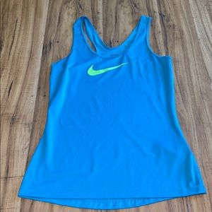 Nike Pro tank top size small blue and green